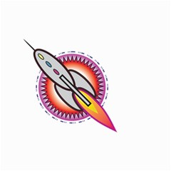 Space Rocket Small Garden Flag (Two Sides)