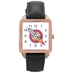 Space Rocket Rose Gold Watches