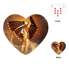 Beautiful Angel In The Sky Playing Cards (Heart)