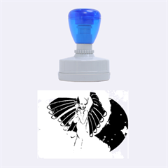 Beautiful Angel In The Sky Rubber Oval Stamps