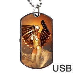 Beautiful Angel In The Sky Dog Tag USB Flash (One Side)