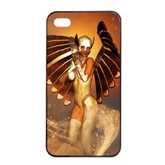 Beautiful Angel In The Sky Apple iPhone 4/4s Seamless Case (Black)