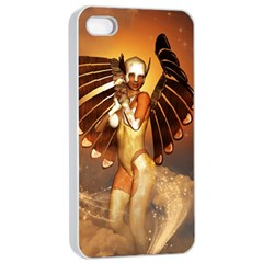 Beautiful Angel In The Sky Apple Iphone 4/4s Seamless Case (white)