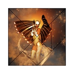 Beautiful Angel In The Sky Acrylic Tangram Puzzle (6  X 6 )