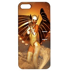 Beautiful Angel In The Sky Apple iPhone 5 Hardshell Case with Stand