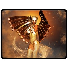 Beautiful Angel In The Sky Double Sided Fleece Blanket (Large)