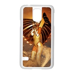 Beautiful Angel In The Sky Samsung Galaxy S5 Case (White)