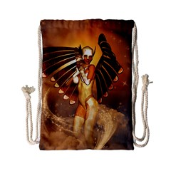 Beautiful Angel In The Sky Drawstring Bag (Small)