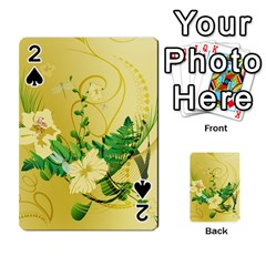 Wonderful Soft Yellow Flowers With Leaves Playing Cards 54 Designs