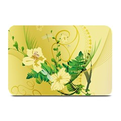 Wonderful Soft Yellow Flowers With Leaves Plate Mats