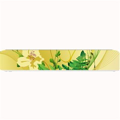 Wonderful Soft Yellow Flowers With Leaves Small Bar Mats