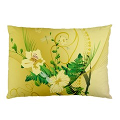 Wonderful Soft Yellow Flowers With Leaves Pillow Cases