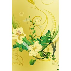 Wonderful Soft Yellow Flowers With Leaves 5 5  X 8 5  Notebooks