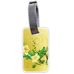 Wonderful Soft Yellow Flowers With Leaves Luggage Tags (Two Sides)