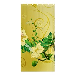 Wonderful Soft Yellow Flowers With Leaves Shower Curtain 36  x 72  (Stall)
