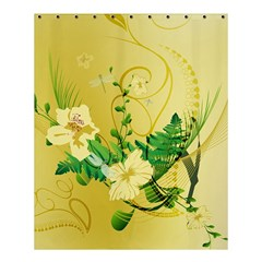 Wonderful Soft Yellow Flowers With Leaves Shower Curtain 60  X 72  (medium)