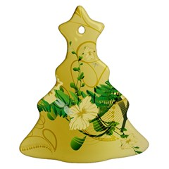 Wonderful Soft Yellow Flowers With Leaves Ornament (Christmas Tree)