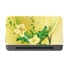 Wonderful Soft Yellow Flowers With Leaves Memory Card Reader With Cf