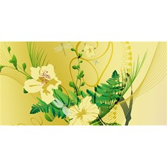 Wonderful Soft Yellow Flowers With Leaves YOU ARE INVITED 3D Greeting Card (8x4)