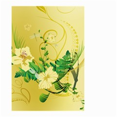 Wonderful Soft Yellow Flowers With Leaves Small Garden Flag (two Sides)