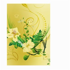 Wonderful Soft Yellow Flowers With Leaves Large Garden Flag (two Sides)