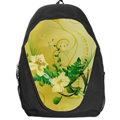 Wonderful Soft Yellow Flowers With Leaves Backpack Bag