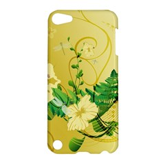 Wonderful Soft Yellow Flowers With Leaves Apple iPod Touch 5 Hardshell Case