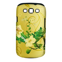 Wonderful Soft Yellow Flowers With Leaves Samsung Galaxy S III Classic Hardshell Case (PC+Silicone)