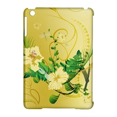 Wonderful Soft Yellow Flowers With Leaves Apple iPad Mini Hardshell Case (Compatible with Smart Cover)