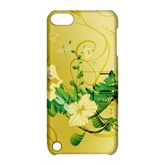 Wonderful Soft Yellow Flowers With Leaves Apple iPod Touch 5 Hardshell Case with Stand