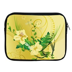 Wonderful Soft Yellow Flowers With Leaves Apple iPad 2/3/4 Zipper Cases