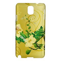 Wonderful Soft Yellow Flowers With Leaves Samsung Galaxy Note 3 N9005 Hardshell Case