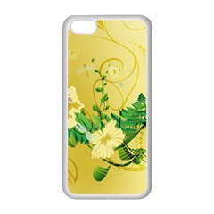 Wonderful Soft Yellow Flowers With Leaves Apple iPhone 5C Seamless Case (White)