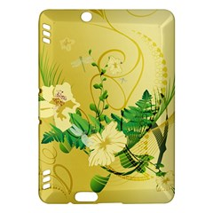 Wonderful Soft Yellow Flowers With Leaves Kindle Fire HDX Hardshell Case
