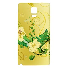 Wonderful Soft Yellow Flowers With Leaves Galaxy Note 4 Back Case