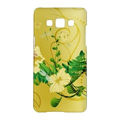 Wonderful Soft Yellow Flowers With Leaves Samsung Galaxy A5 Hardshell Case