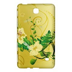 Wonderful Soft Yellow Flowers With Leaves Samsung Galaxy Tab 4 (8 ) Hardshell Case