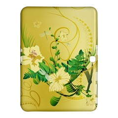 Wonderful Soft Yellow Flowers With Leaves Samsung Galaxy Tab 4 (10.1 ) Hardshell Case