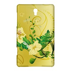 Wonderful Soft Yellow Flowers With Leaves Samsung Galaxy Tab S (8 4 ) Hardshell Case