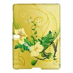 Wonderful Soft Yellow Flowers With Leaves Samsung Galaxy Tab S (10.5 ) Hardshell Case