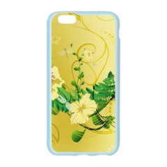 Wonderful Soft Yellow Flowers With Leaves Apple Seamless iPhone 6/6S Case (Color)