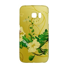 Wonderful Soft Yellow Flowers With Leaves Galaxy S6 Edge