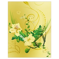 Wonderful Soft Yellow Flowers With Leaves Drawstring Bag (Large)