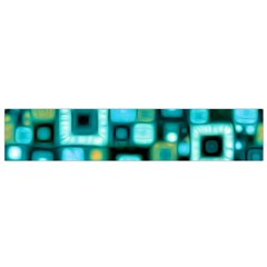 Teal Squares Flano Scarf (Small)