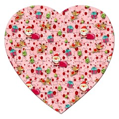 Red Christmas Pattern Jigsaw Puzzle (Heart)
