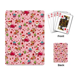 Red Christmas Pattern Playing Card