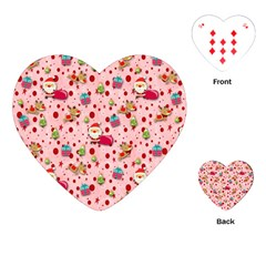 Red Christmas Pattern Playing Cards (heart)