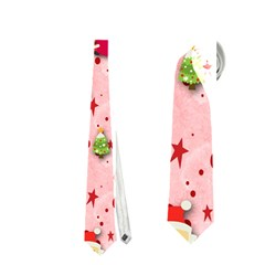 Red Christmas Pattern Neckties (one Side)