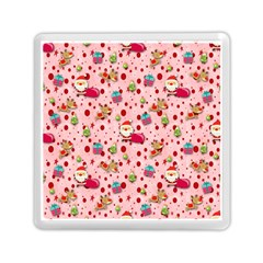 Red Christmas Pattern Memory Card Reader (Square)