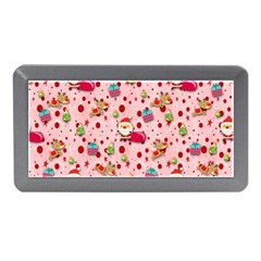 Red Christmas Pattern Memory Card Reader (Mini)